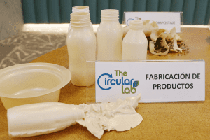TheCircularLab creates a plastic from plant waste that can be recycled, composted and can biodegrade in a marine environment